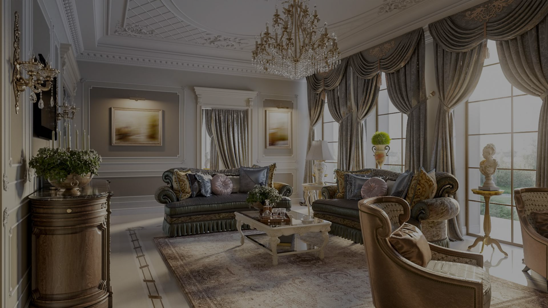 living room and custom draperies and bedding chicago